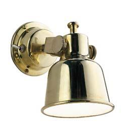 Brass reading light