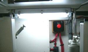 New engine room lighting