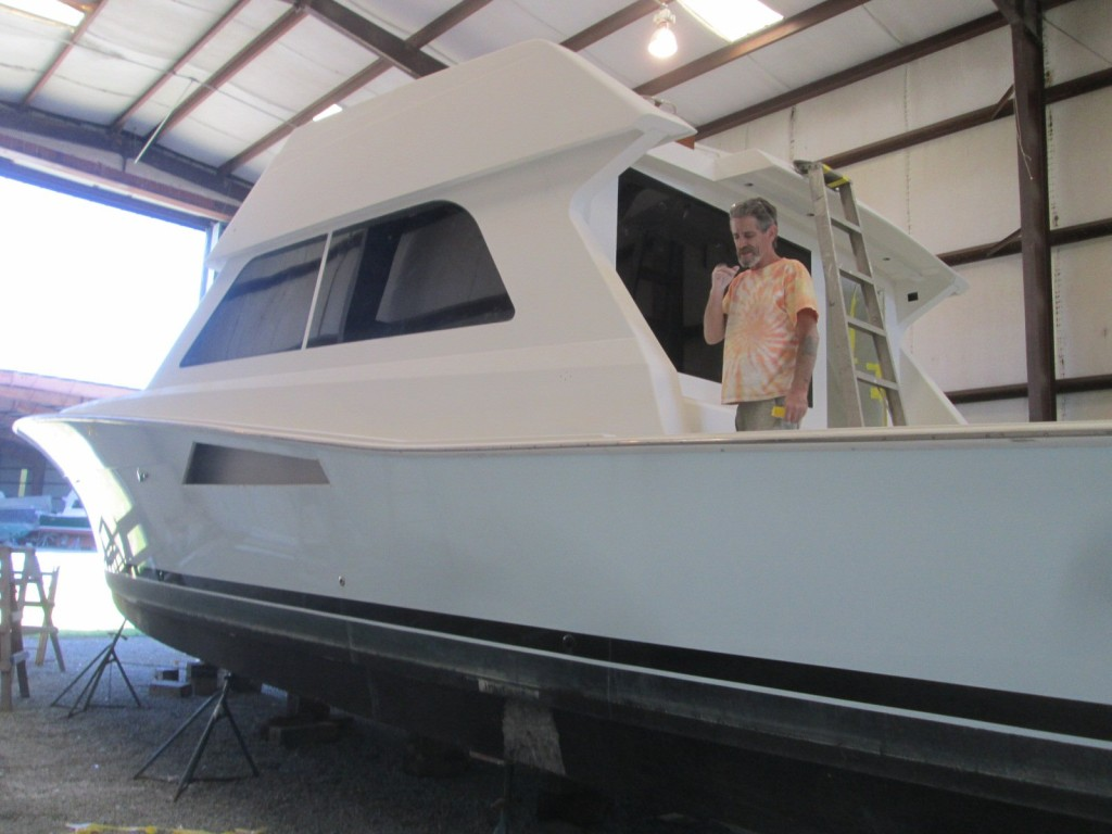 A Viking 55 gets a complete Awlgrip Make Over including all aluminum parts!
