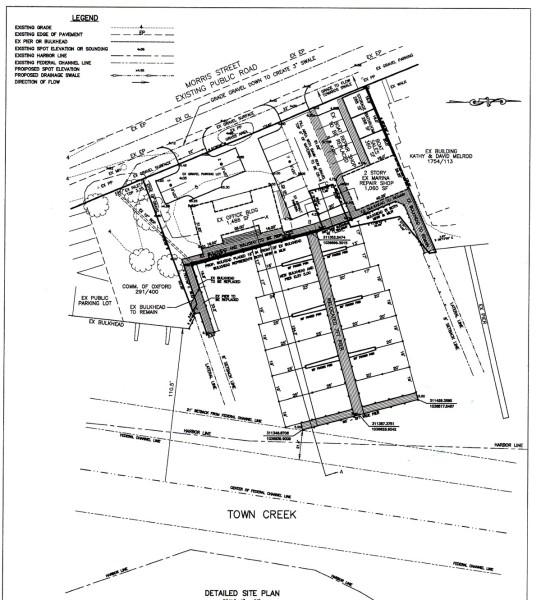 Oxford MD Marina Dock Layout Drawing