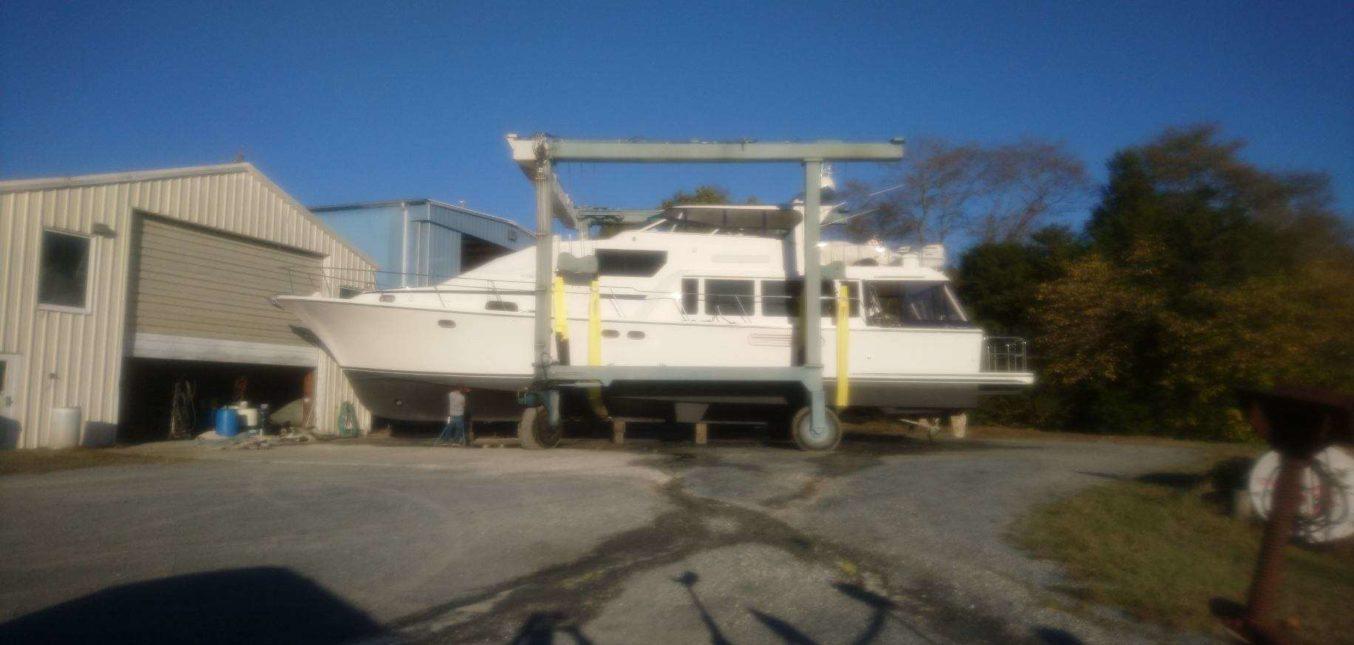 Chesapeake Bay Haul Out Season Continues at Dickerson Harbor Boatyard